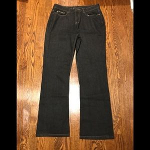 LIKE NEW DKNY Soho Stretch Black Bootcut Jeans